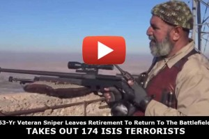 63-Yr Veteran Sniper Leaves Retirement To Return To The Battlefield – Takes Out 174 ISIS