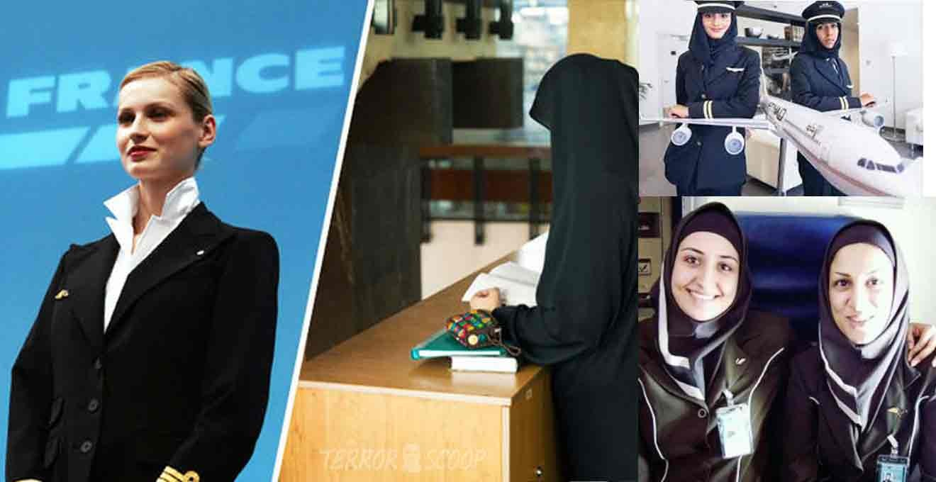 Air-France-stewardesses-revolt-against-Muslim-headscarf-rule-for-Iran