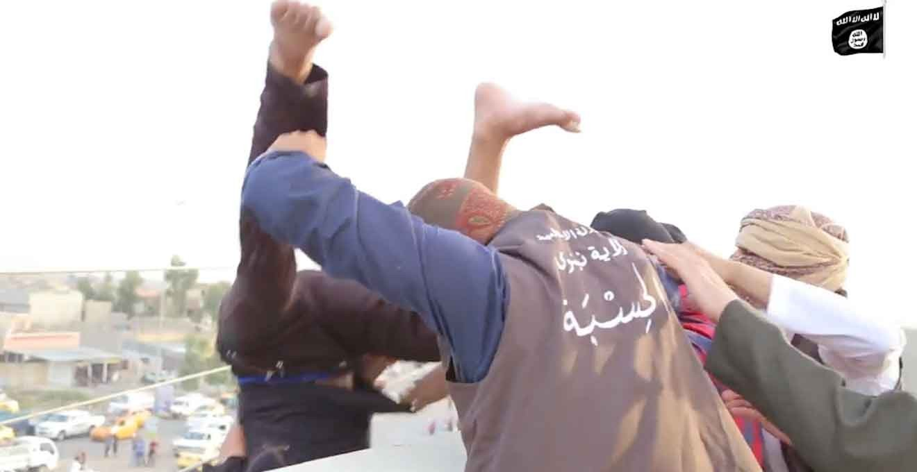 ISIS militants throw gay man off roof in latest video