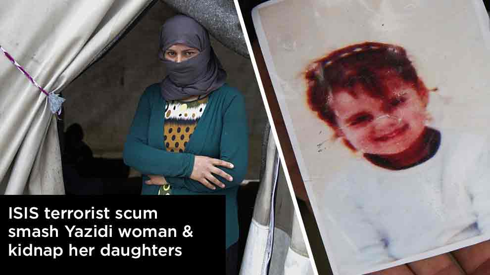 ISIS-terrorist-scum-smash-Yazidi-woman-and-kidnap-her-daughters