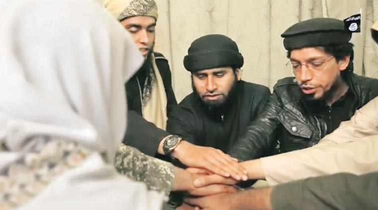 A screengrab from the video shows a group of purported jihadists threatening attacks in India.