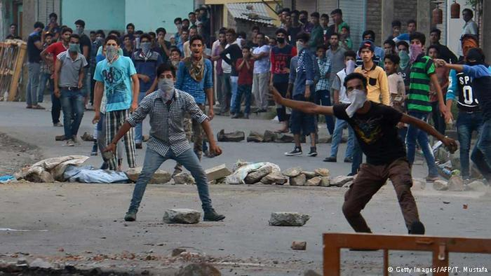 At least 45 people have died in the Indian Kashmir since the death of a Hizbul Mujahideen terrorist