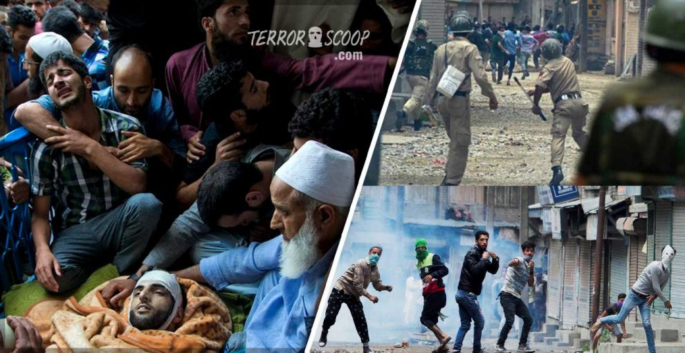 India-Violent-protests-tear-through-Kashmir-after-death-of-Hizbul-Mujahideen's-top-commander