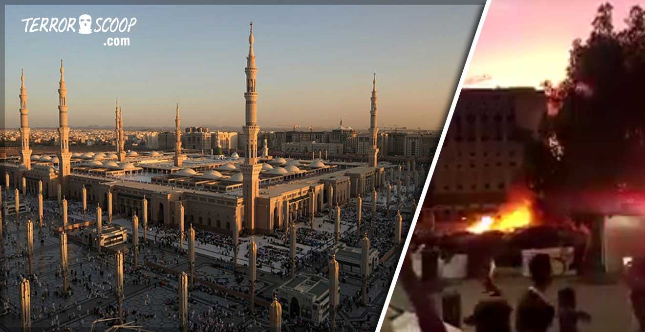 Saudi-Arabi-Suicide-bomber-strikes-near-Prophet's-Mosque-in-holy-Saudi-city-of-Medina-VIDEO