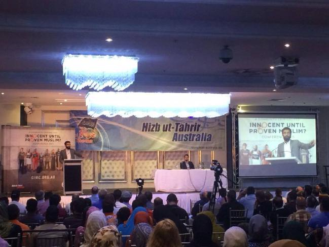 Uthman Badar addresses forum in Lidcombe