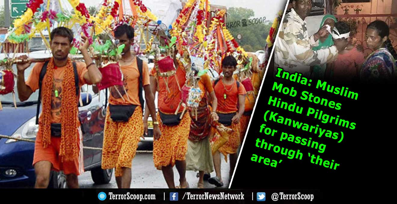 India-Muslim-Mob-Stones-Hindu-Pilgrims-(Kanwariyas)-for-passing-through-'their-area'