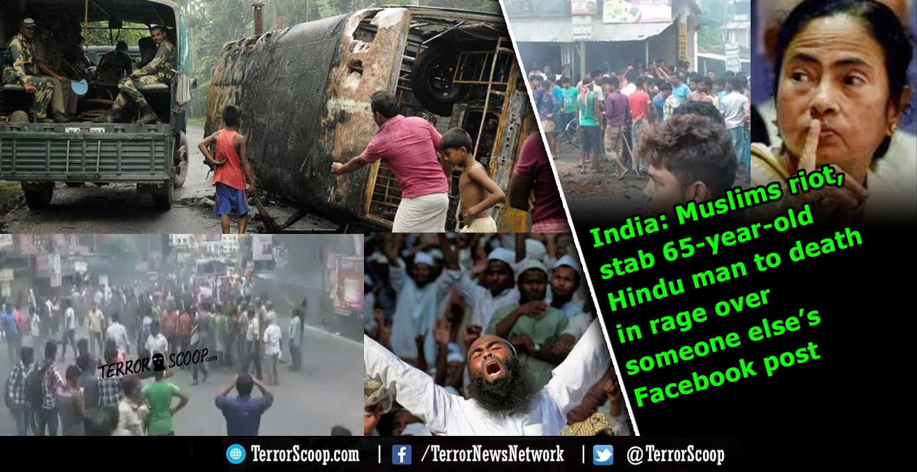 India-Muslims-riot,-stab-65-year-old-Hindu-man-to-death-in-rage-over-someone-else's-Facebook-post-in-Kolkata,-West-Bengal