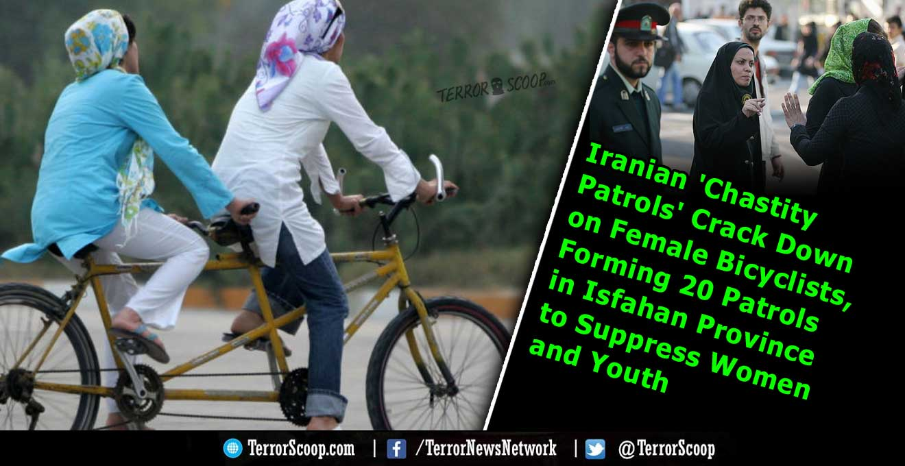 Iranian-'Chastity-Patrols'-Crack-Down-on-Female-Bicyclists,-Forming-20-Patrols-in-Isfahan-Province-to-Suppress-Women-and-Youth