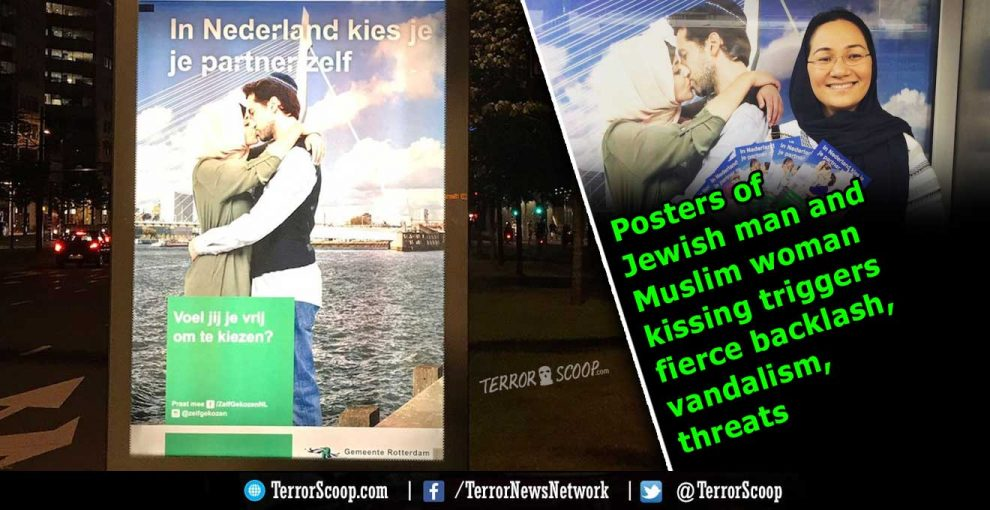 Posters-of-Jewish-man-and-Muslim-woman-kissing-triggers-fierce-backlash,-vandalism,-threats