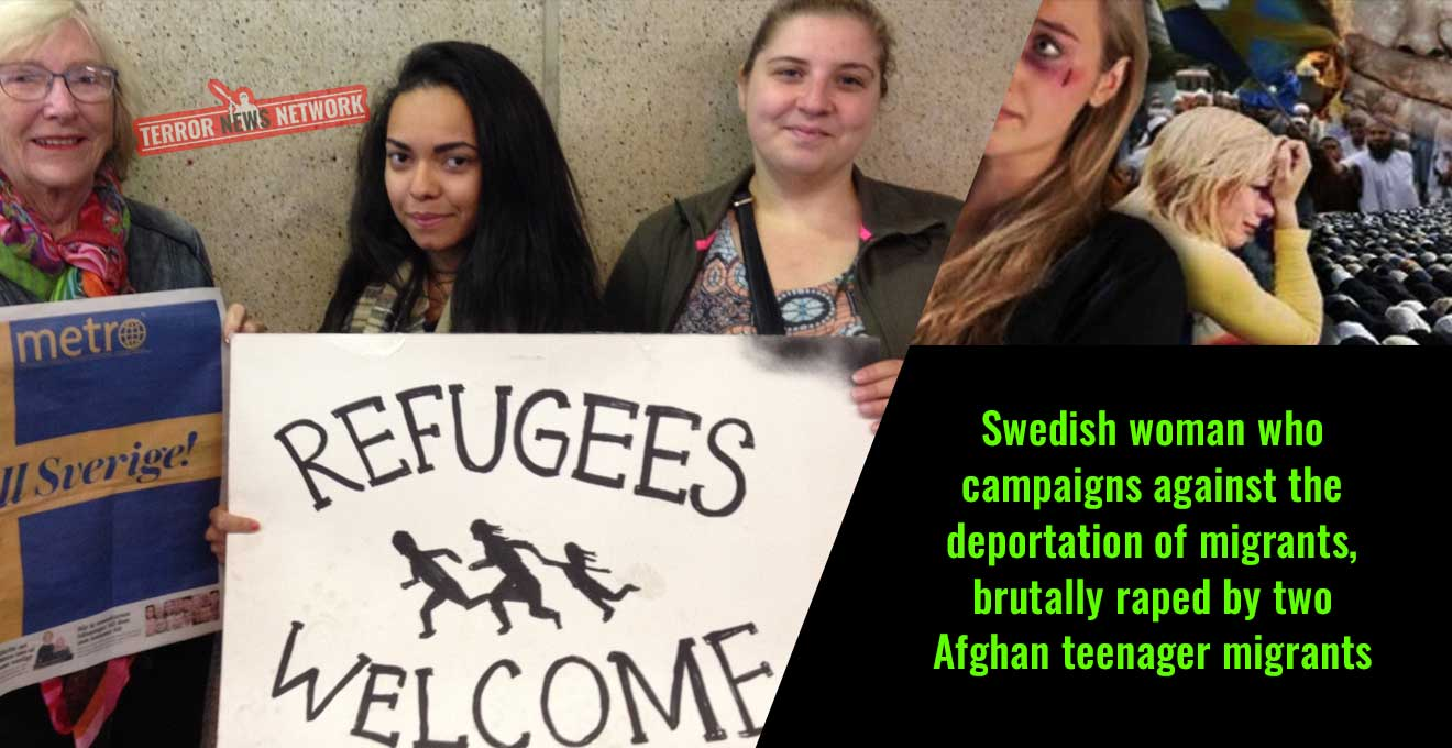 Swedish-woman-who-campaigns-against-the-deportation-of-migrants,-brutally-raped-by-two-Afghan-teenager-migrants