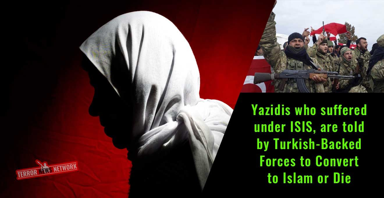 Yazidis-who-suffered-under-ISIS,-are-told-by-Turkish-Backed-Forces-to-Convert-to-Islam-or-Die
