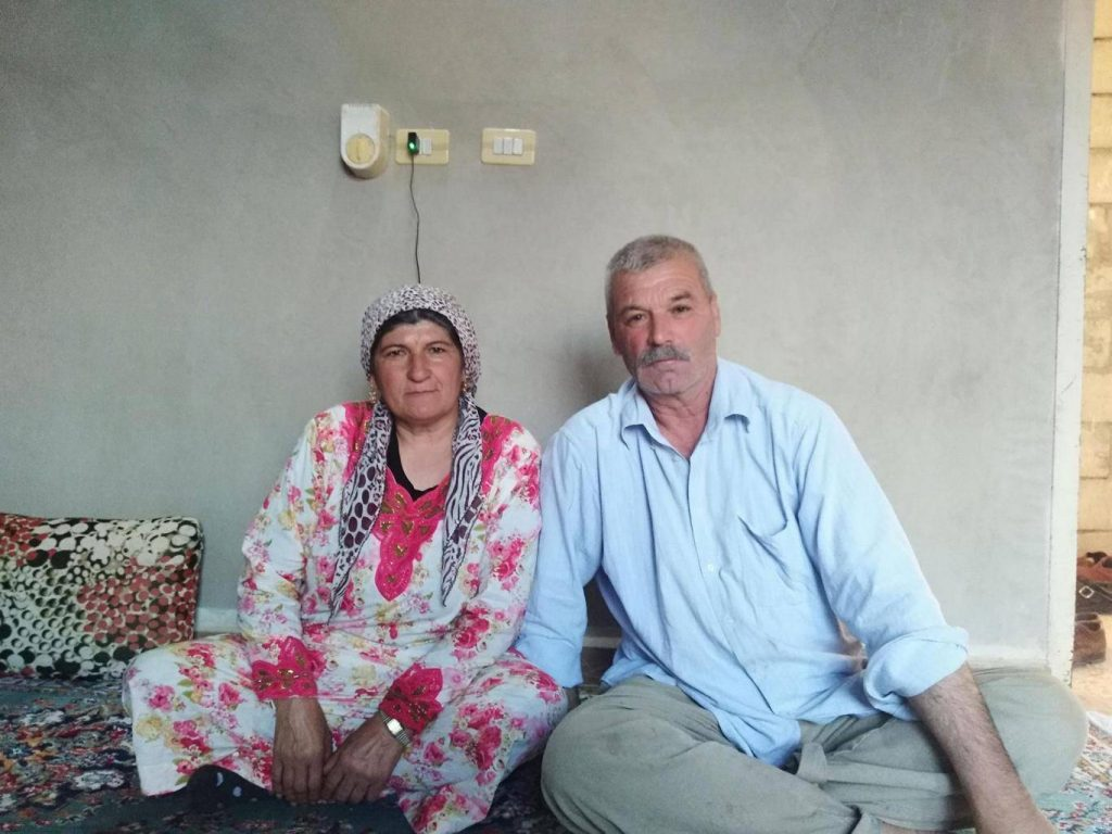 Shekh Qamber and his wife Adula Mahmoud Safar, Kurdish Yazidis facing persecution in Afrin Supplied