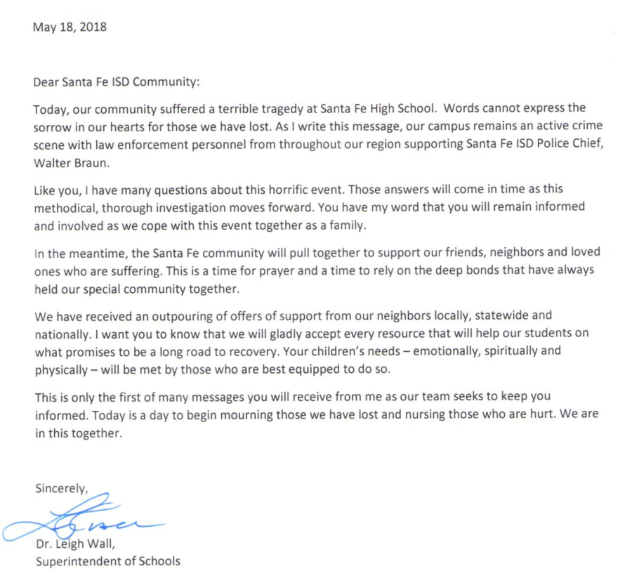 "Santa Fe school district sends letter to community: ""We are in this together"""