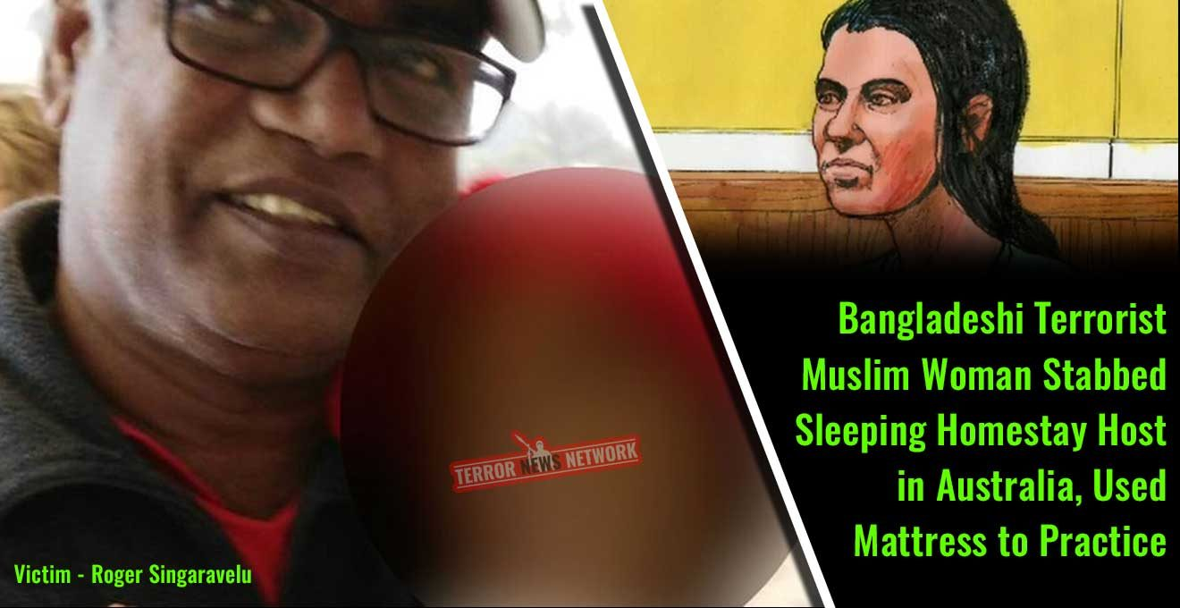 Bangladeshi-Terrorist-Muslim-Woman-Stabbed-Sleeping-Homestay-Host-in-Australia,-Used-Mattress-to-Practice