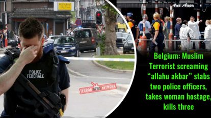 "Belgium-Muslim-Terrorist-screaming-""Allahu-akbar""-stabs-two-Police-Officers,-takes-woman-hostage,-kills-three"