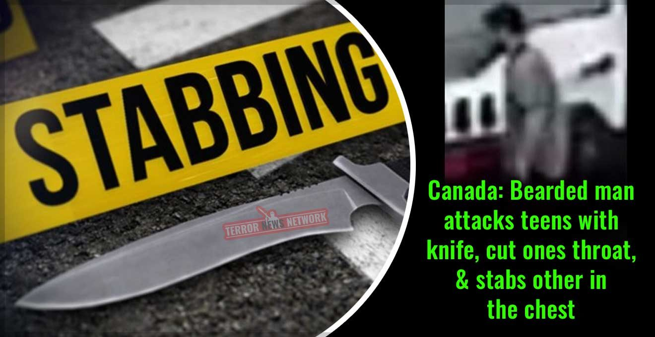 Canada-Bearded-man-attacks-teens-with-knife,-cut-ones-throat,-and-stabs-other-in-the-chest-in-Scarborough,-Ontario