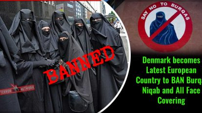 Denmark Ban Burqas, Niqabs and all face coverings,