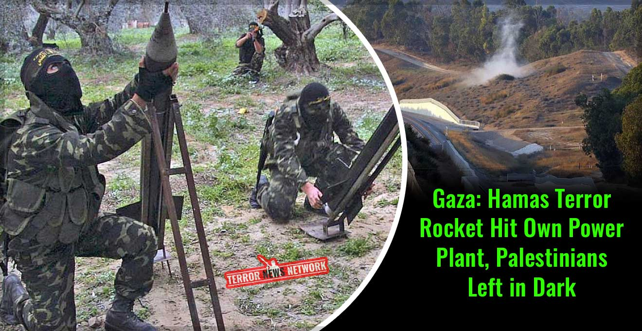 Gaza-Hamas-Terror-Rocket-Hit-Own-Power-Plant,-Palestinians-Left-in-Dark