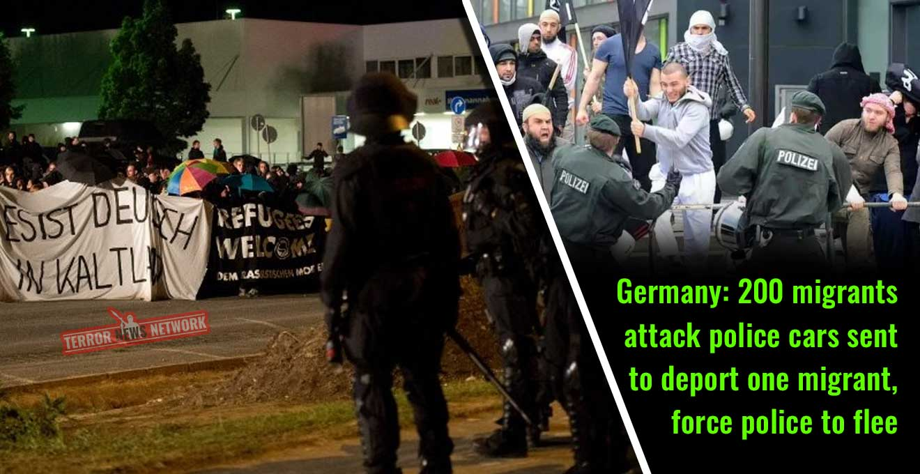 Germany-200-migrants-attack-police-cars-sent-to-deport-one-migrant,-force-police-to-flee