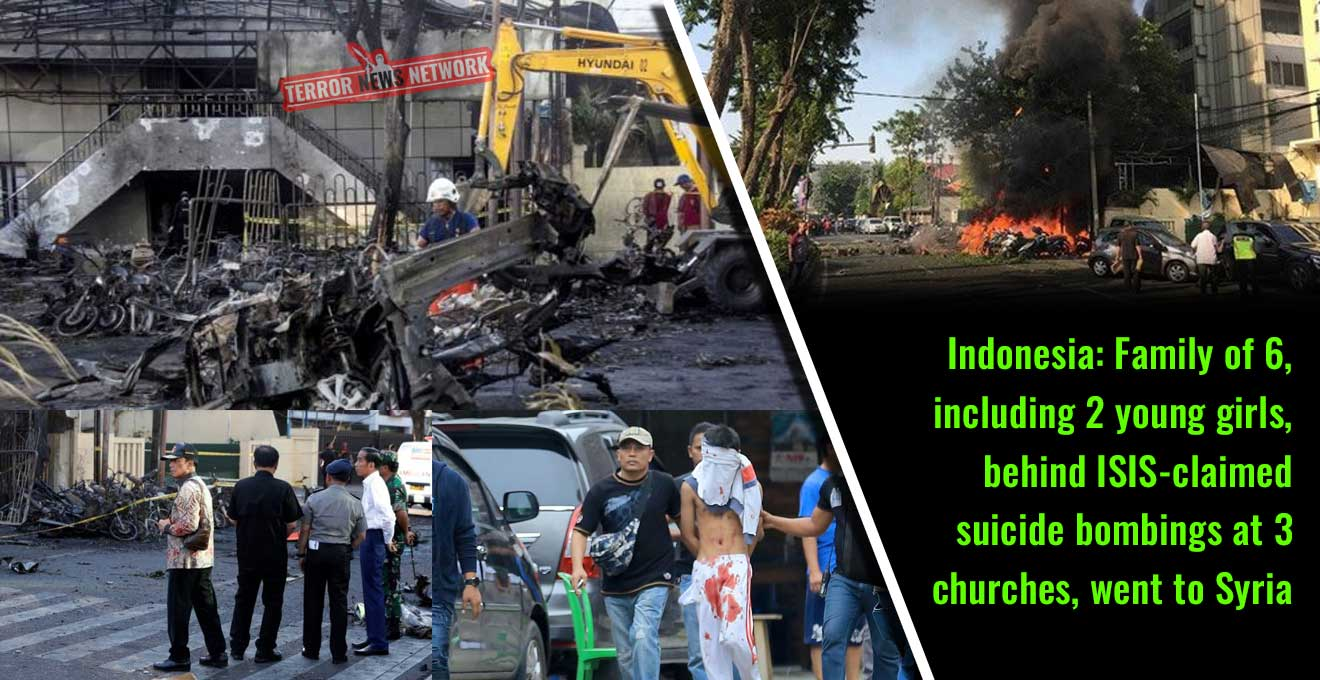 Indonesia-Family-of-6,-including-2-young-girls,-behind-ISIS-claimed-suicide-bombings-at-3-churches,-went-to-Syria