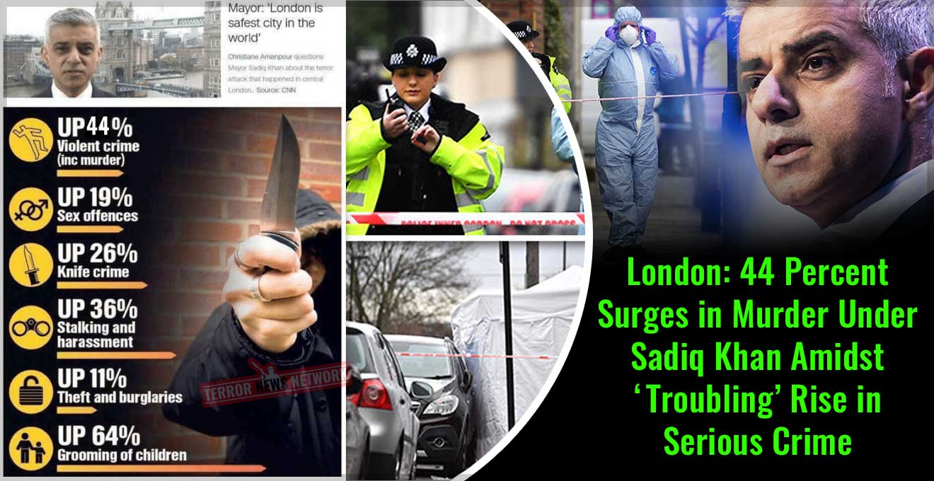 London-44-Percent-Surges-in-Murder-Under-Sadiq-Khan-Amidst-'Troubling'-Rise-in-Serious-Crime