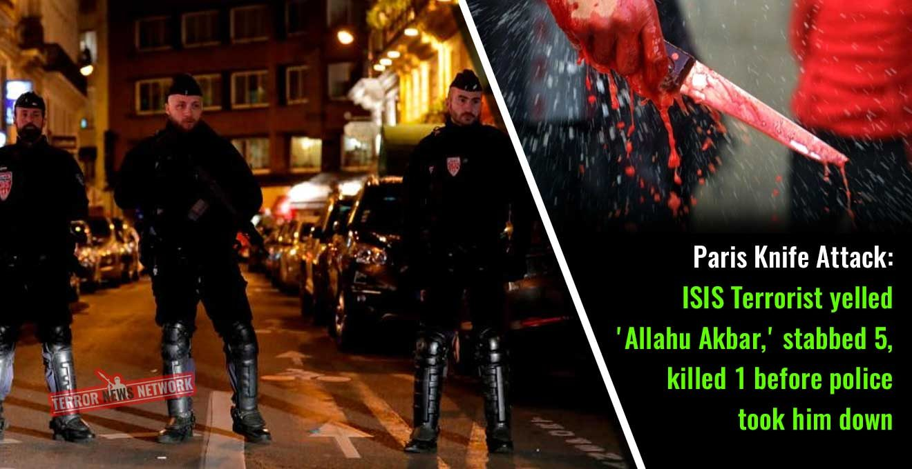 Paris Knife Attack: ISIS Terrorist yelled 'Allahu Akbar,' stabbed five, killed one before police take him down
