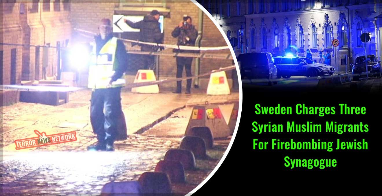 Sweden-Charges-Three-Syrian-Muslim-Migrants-For-Firebombing-Synagogue