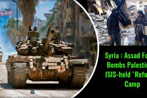 Syria-Assad-Forces-Bombs-Palestinian-ISIS-held-'Refugee'-Camp