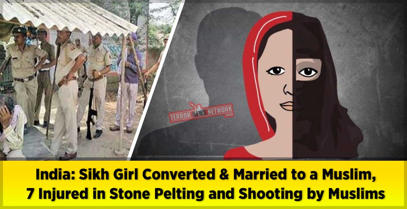 India-Sikh-Girl-Converted-to-Islam-and-Married-to-a-Muslim,-7-Injured-in-Stone-Pelting-and-Shooting-by-Muslims